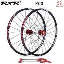 Комплект колес для горного велосипеда RXR, колеса 29 дюймов из углеродного волокна, дисковый тормоз RC3, 5 подшипников, 7-11 скоростей, сквозная ос...