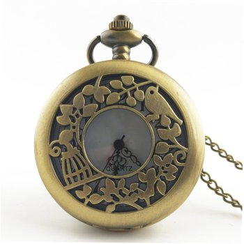 Antique Copper Steampunk Quartz Pocket Watch Vintage Bronze Gear Hollow Necklace Pendant Clock With Chain Men's Women Gifts vintage carving rose quartz pocket watch exquisite in full bloom hollow necklace chain women accessory lady bronze clock gift