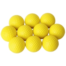 RISE-10pcs желтый мягкий эластичный внутренний тренировочный ПУ мяч для гольфа