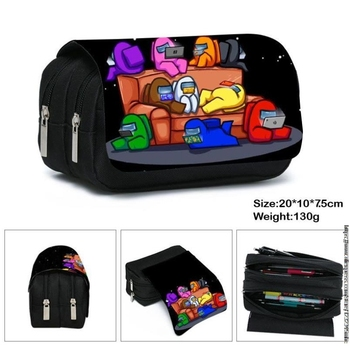 Customize Your Image Logo Name Women Cosmetic Bags & Cases Kids Among Us Pencil Holder Make up Pouch Children School Case