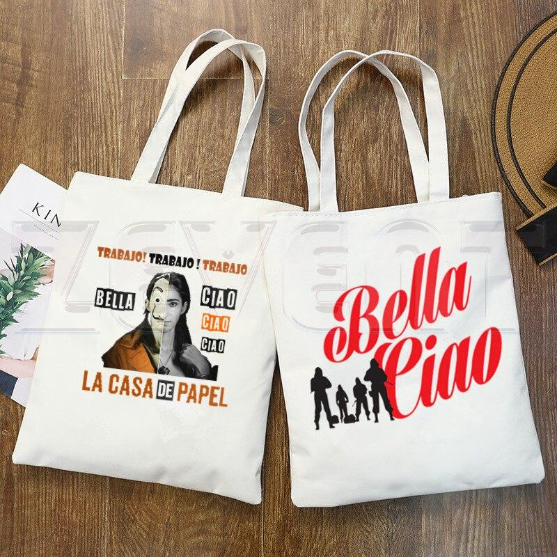 Bella Ciao Lacasa De Papel Bag Handbags Shoulder Bags Casual Money Heist House Of Paper Shopping Girls Handbag