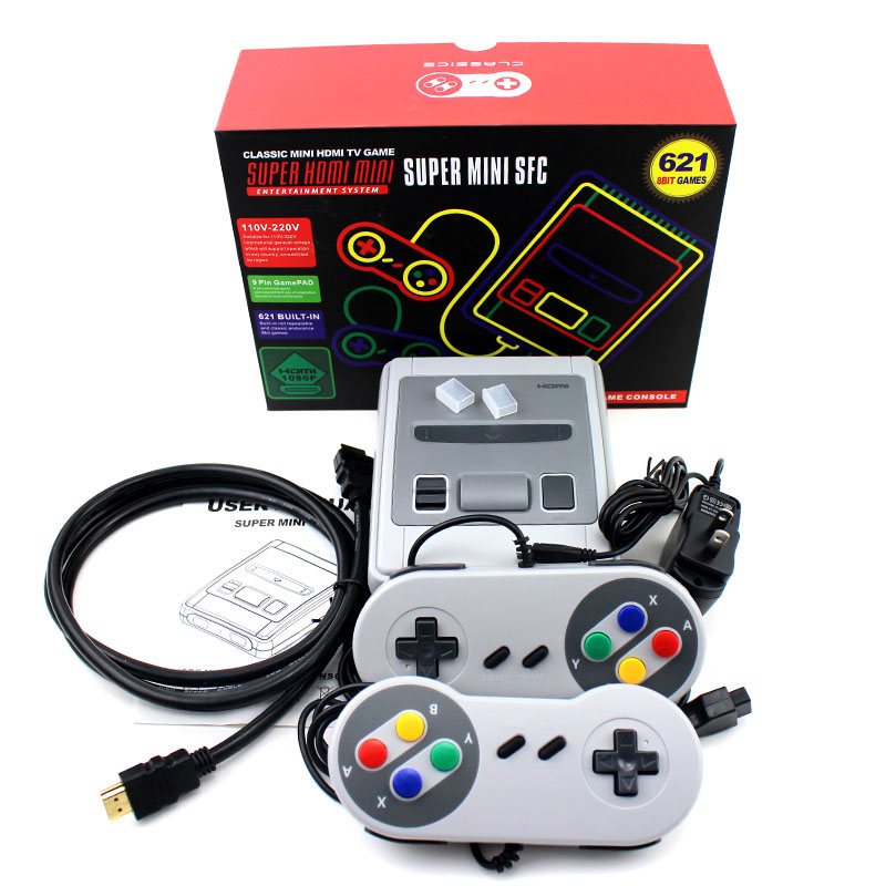 Retro Mini 8 Bit Video Game Console AV Output Handheld Game Player Built-in 621 Classic Games Video Game Console Christmas Gifts