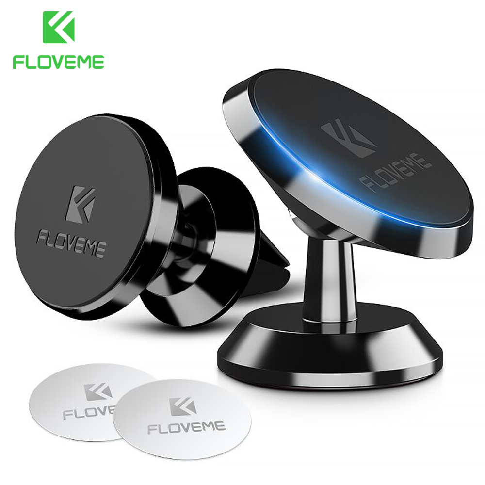 FLOVEME Universal Car Holder 360 Degree Magnetic Car Phone Holder GPS Stand Air Vent Magnet Mount For IPhone X 7 Xs Max Soporte