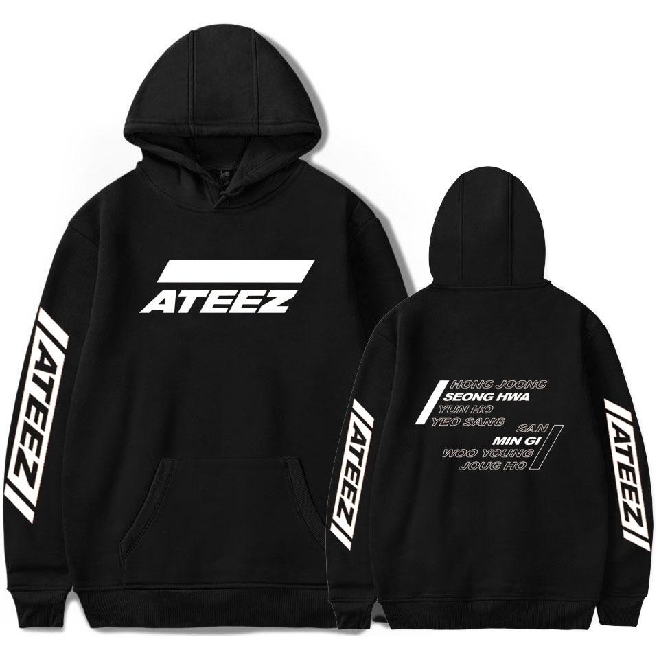New ATEEZ Hoodies Print Men Women New Harajuku Sweatshirts Fashion Hooded Casual pullover ATEEZ Hoodies Men Sweatshirts Clothing