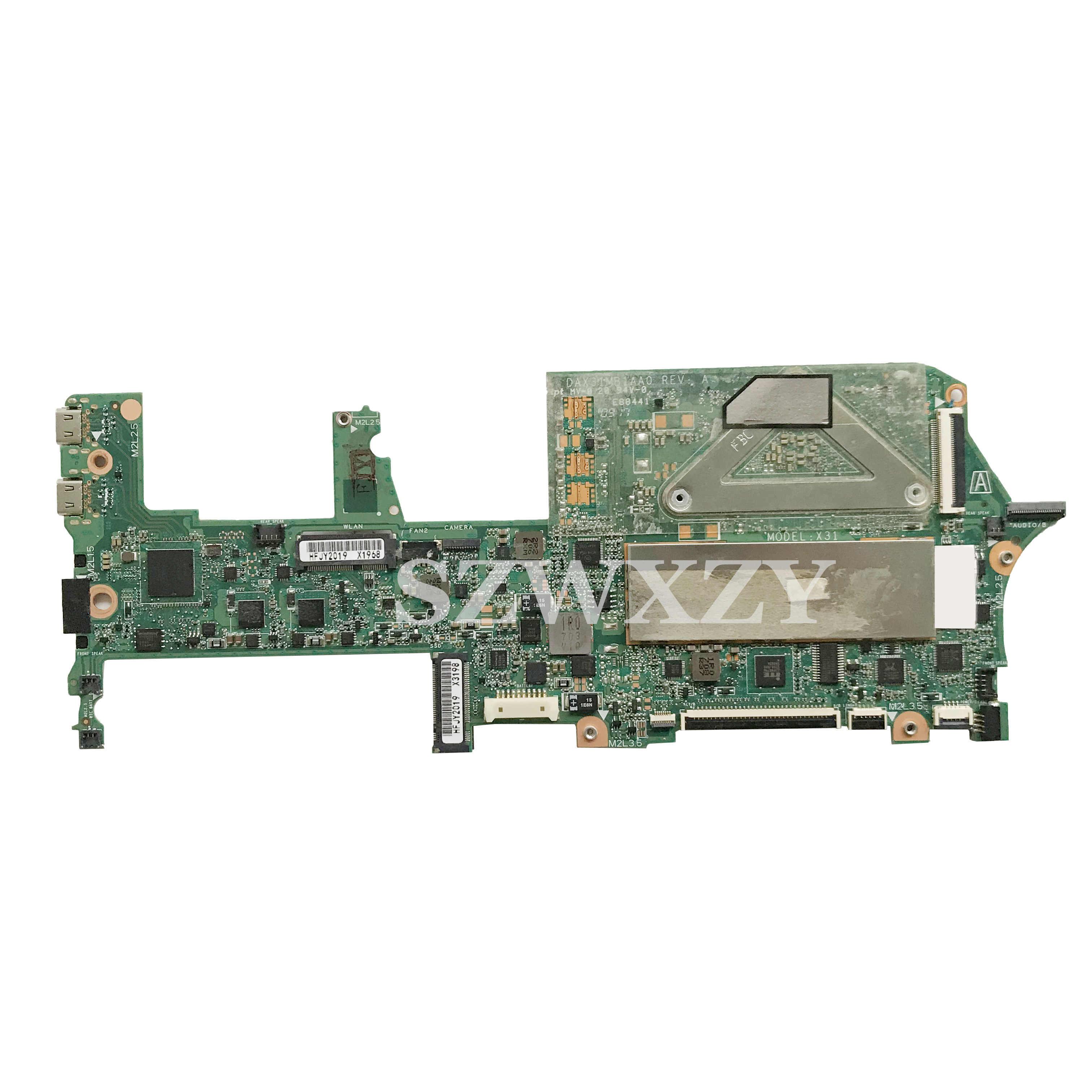 עבור HP Spectre X360 13-AC 13-W מחשב נייד האם DAX31MB1AA0 918044-601 918044-001 עם i5-7200U 8GB RAM מלא נבדק