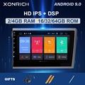 Автомобильный GPS навигатор  IPS DSP 2 Din Android 9 0 для VOLVO S60 V70 XC70 XC90 2000 2001 2002 2003 2004 мультимедийное радио 4 Гб головное устройство