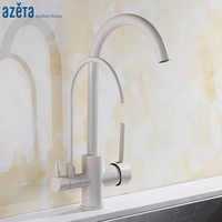 Azeta 3 Way Faucet Kitchen Taps Single Hole Deck Mounted Water Purify Function 360 Degree Swivel Kitchen Sink Faucet AT2188P