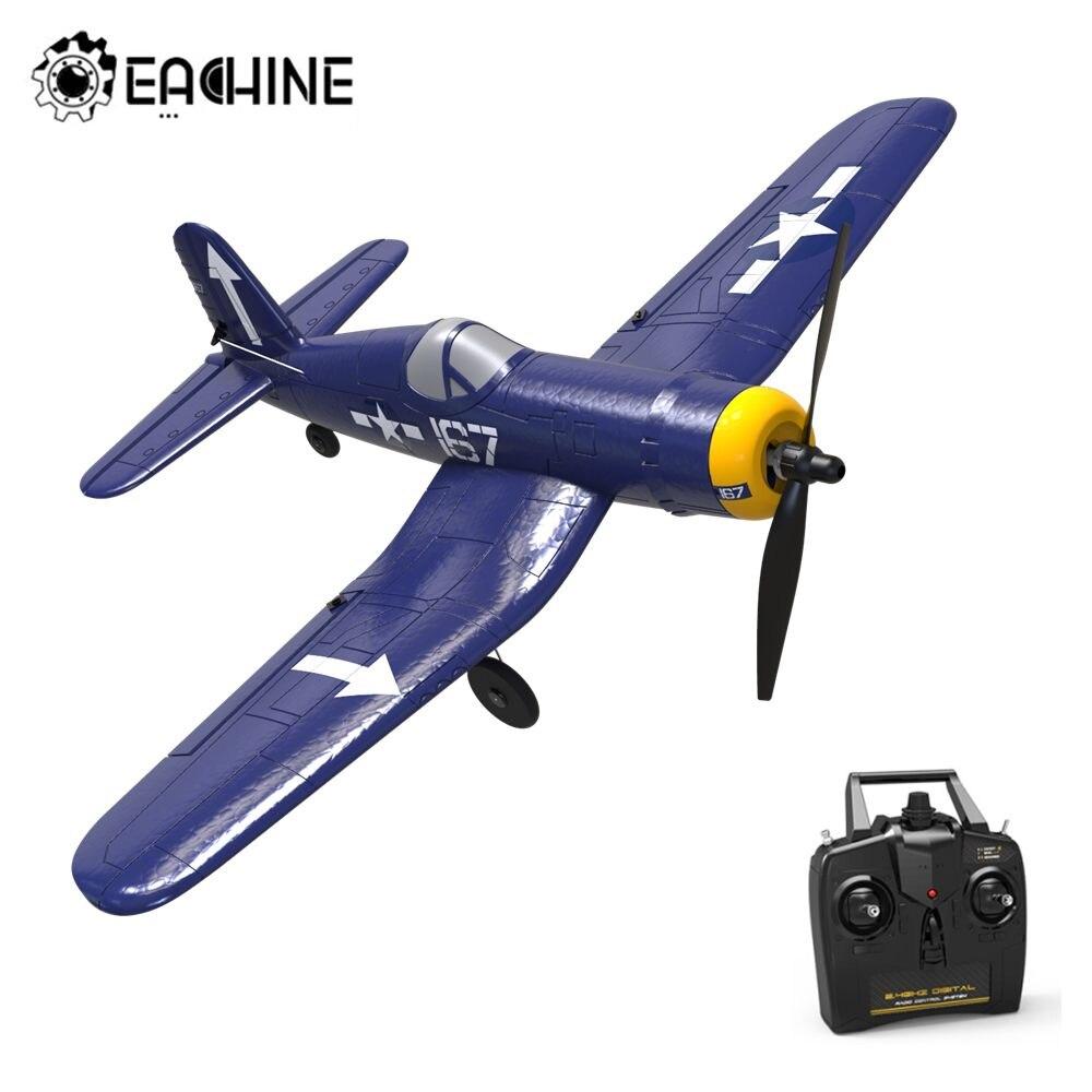 Eachine F4U 761 8 400mm Wingspan EPP One key Aerobatic RC Airplane RC Plane with 2.4Ghz 4CH Remote Control RC Airplanes    - AliExpress