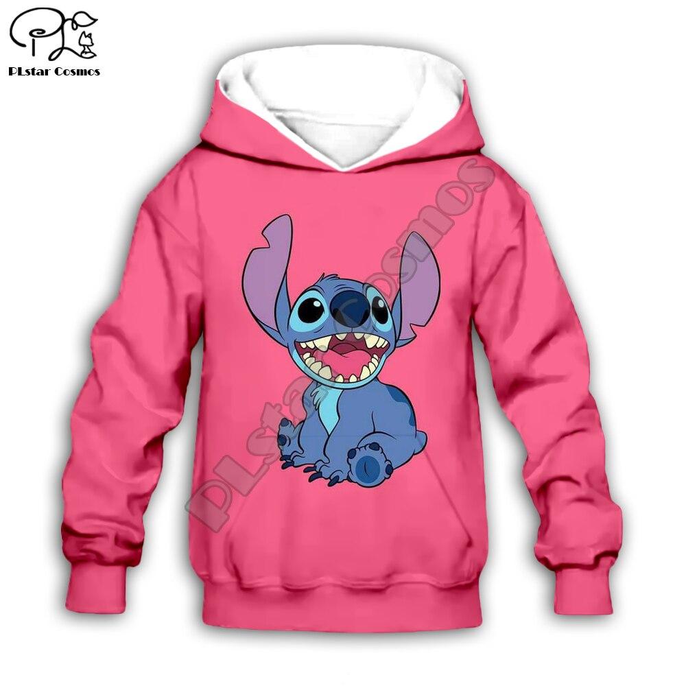 Kids Cloth Anime Kawaii Lilo Stitch 3d Hoodies/boy Sweatshirt Cartoon Hot Movie Pant Style-10
