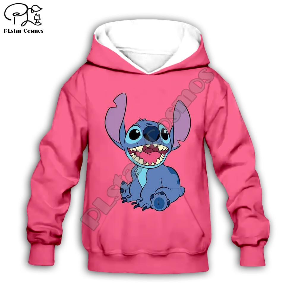Kids Cloth Anime Kawaii Lilo Stitch 3d Hoodies/tshirt/boy Sweatshirt Cartoon Hot Movie Pant Style-10