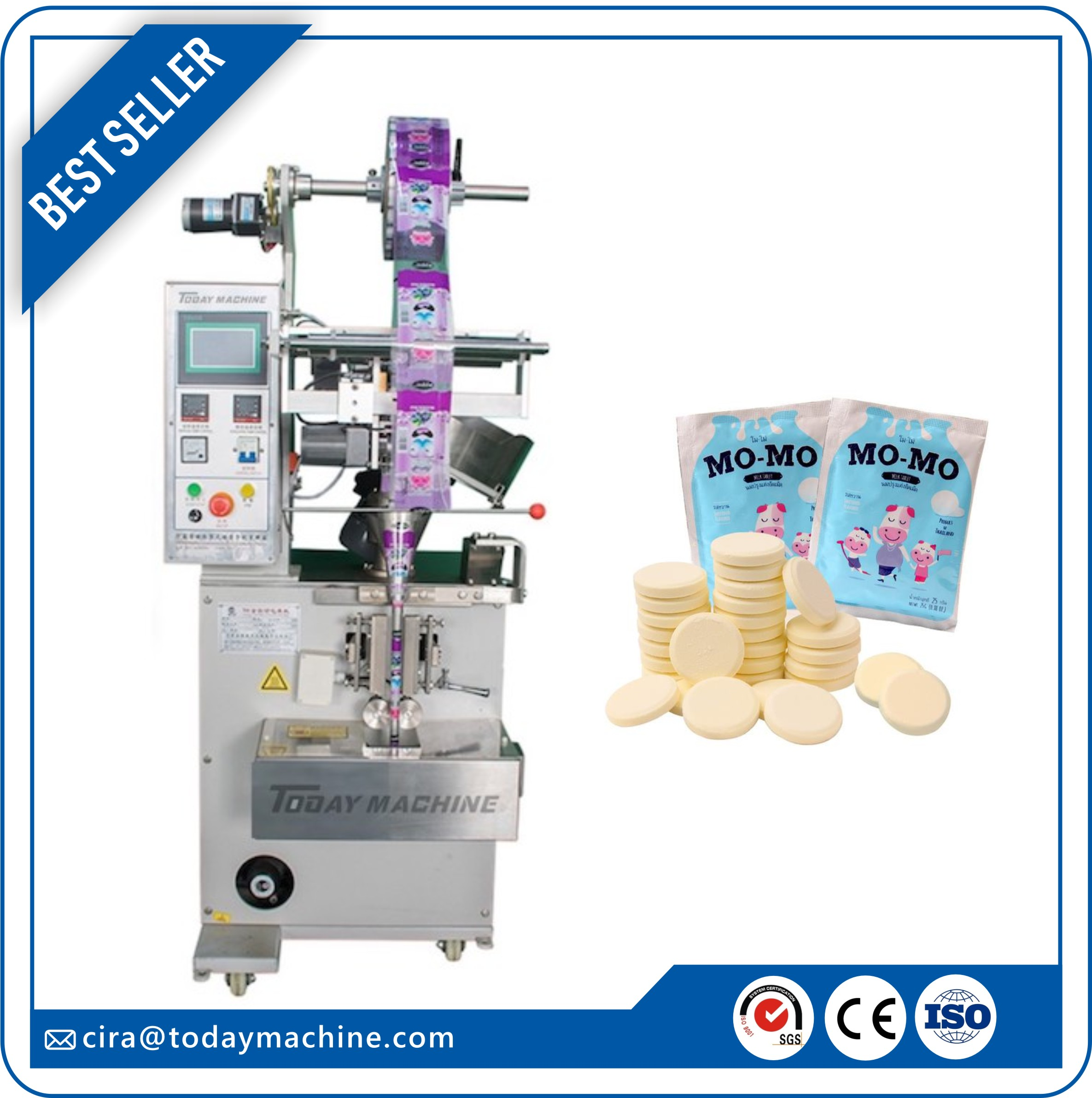 Candy Counting Packing Machine, Milk Tablet Counting And Packaging Machine