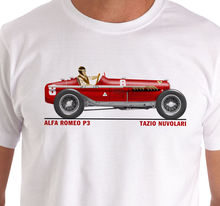 2019 Hot Sale 100% Raceart - Alfa Romeo P3 1932 Tazio Nulolari Grand Prix Car T-Shirt Summer Style Tee Shirt