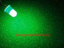 100 pcs 5mm Difuso Verde Super Bright LED Lâmpadas de Luz de nevoeiro