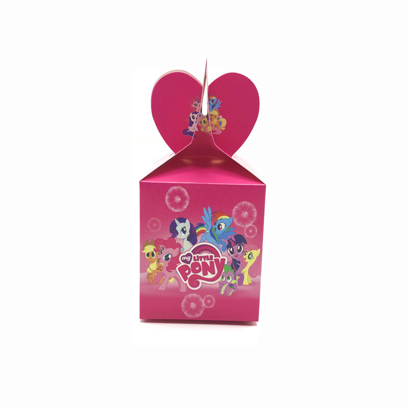 18/30/42/54 Pcs/lot My Little Pony Party Candy Boxes Birthday Party Favors Candy Box Wedding Candy Box Gift Bag Party Supplies