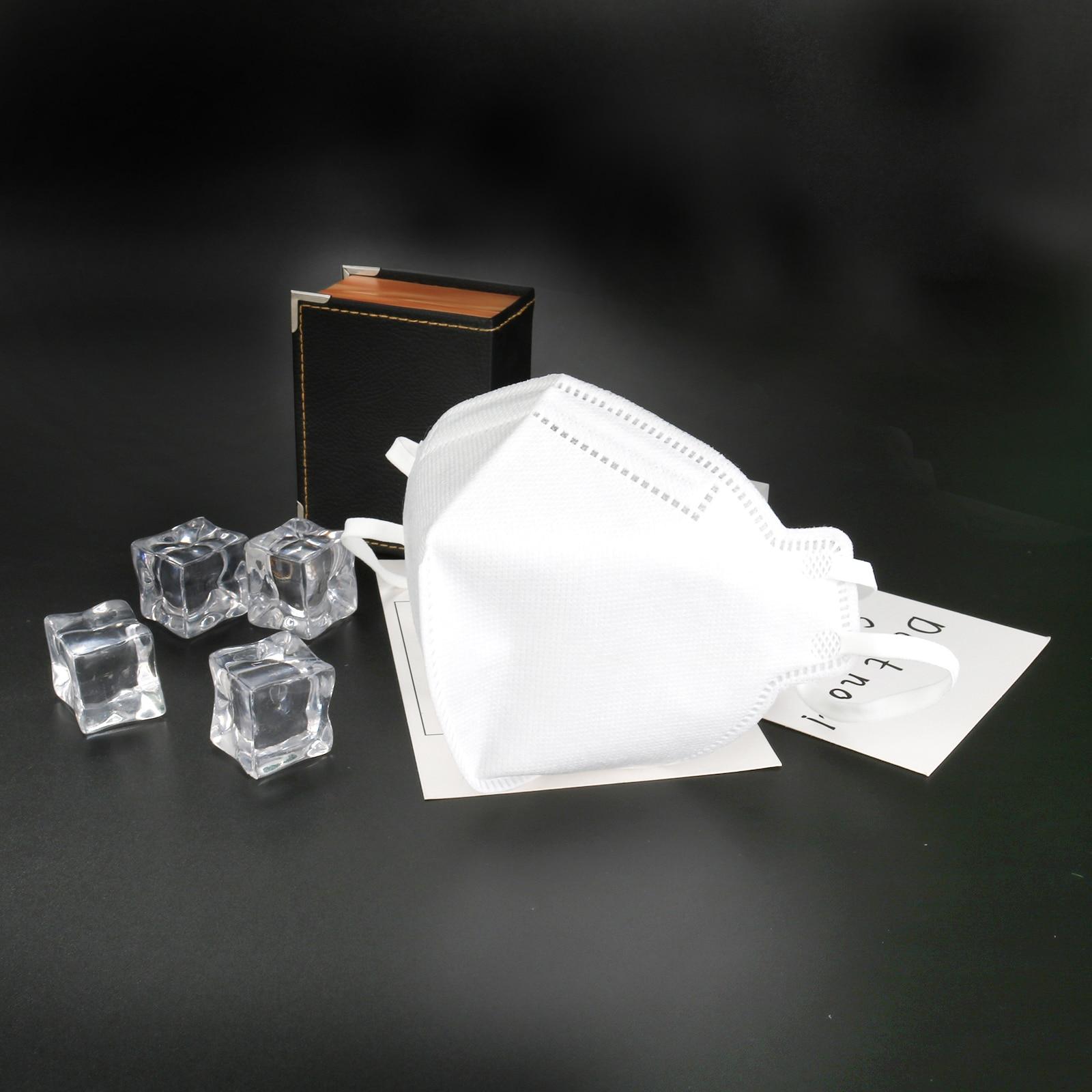 1/2/5/10 Pcs KN95 Mouth Mask Mask Adult Vertical Folding Nonwoven Valved Dust Mask PM 2.5 Respirator Gauze Haza