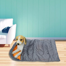 Dog Sleeping Bag Warm Cat Bed Pet House Lovely Soft Mat Cushion Travel Covers