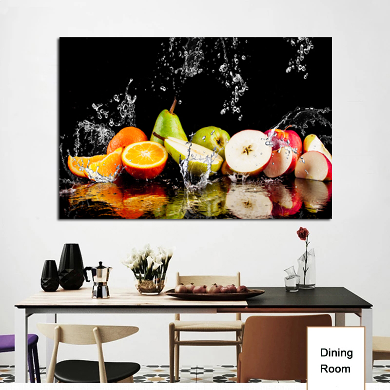 Realist Colorful Close Up Cut Half Fruit Pictures Art Poster Print Wall Canvas Painting For Kitchen Home Decoration