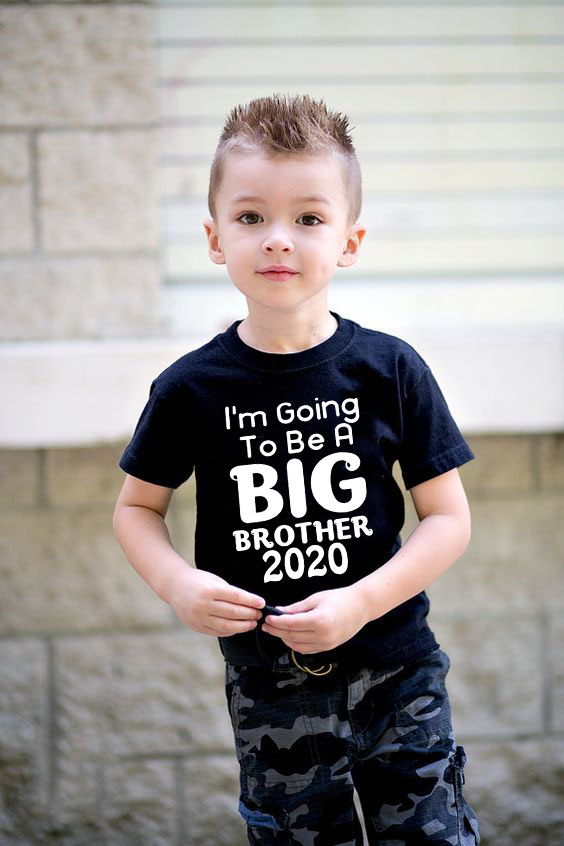 Hot Sale Infant Toddler Baby Boys Short Sleeve T Shirt I'm Going To Be A Big Brother 2020 Tee Tops Clothes White Casual Tshirt