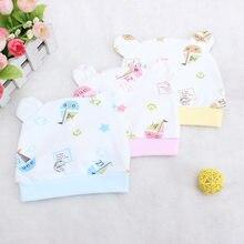 Gorro de algodón para bebé recién nacido de 0 a 3 meses, gorra de una capa con orejas de dibujos animados, gorros y sombreros para bebé