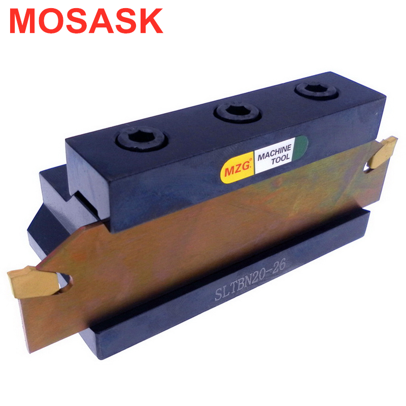 MOSASK SLTBN 20-26 Arbor Slot Bar Adapter Cylindrical Turning Cemented Carbide Blade CNC  Lathe External Cut-Off Toolholder