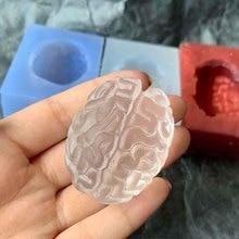 DIY Heart Mold Super Realistic Silicone Brain Epoxy mold Silicon Resin Key Chain Molds super brain