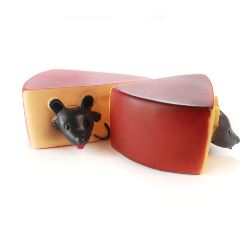 Squichy Mouse And Cheese Toy Mice In Cheese Squishable Figures And Cheese Block Stressbusting Fidget Toys
