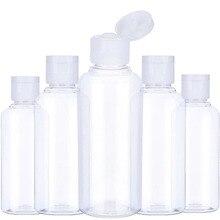 5 adet taşınabilir seyahat şişe 10ml 30ml 50ml 60ml 100 ml plastik şişe seyahat için alt şişesi şampuan kozmetik losyon kabı