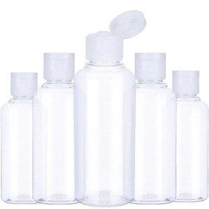 Image 1 - 5Pcs נייד נסיעות בקבוק 10ml 30ml 50ml 60ml 100 ml פלסטיק בקבוקי עבור נסיעות תת בקבוק שמפו קוסמטי קרם מיכל