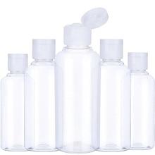 5Pcs Portable Travel Bottle 10ml 30ml 50ml 60ml 100 ml Plastic Bottles for Travel Sub Bottle Shampoo Cosmetic Lotion Container
