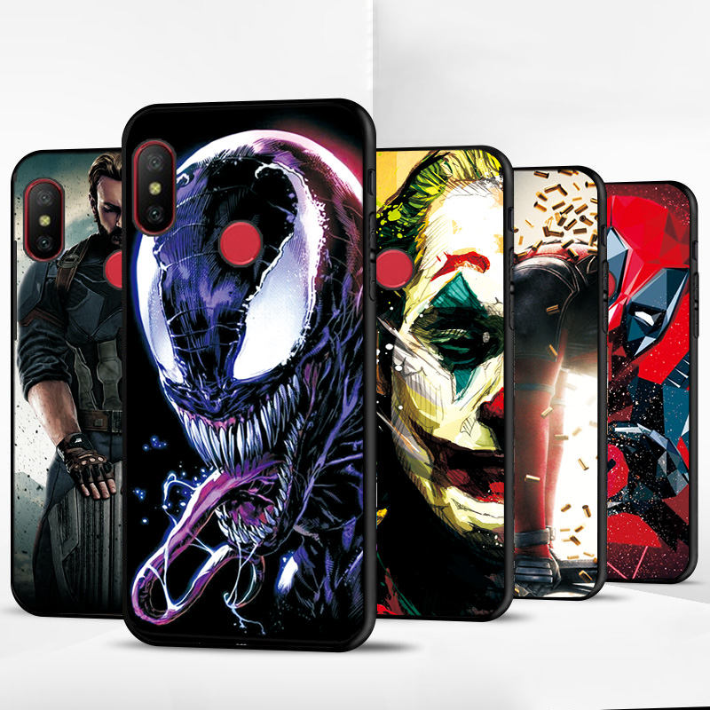 Venom Joker Phone Case Cover For <font><b>Xiaomi</b></font> <font><b>Mi</b></font> A2 Case For <font><b>Xiaomi</b></font> <font><b>Mi</b></font> A1 A2 <font><b>Mi</b></font> <font><b>A3</b></font> Lite <font><b>Mi</b></font> 5X <font><b>Mi</b></font> 6X Black TPU Covers For <font><b>Xiaomi</b></font> CC9E image
