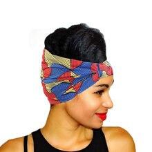 Bandeau large en coton imprimé africain pour femmes, Turban extensible, accessoires pour cheveux, nouvelle collection
