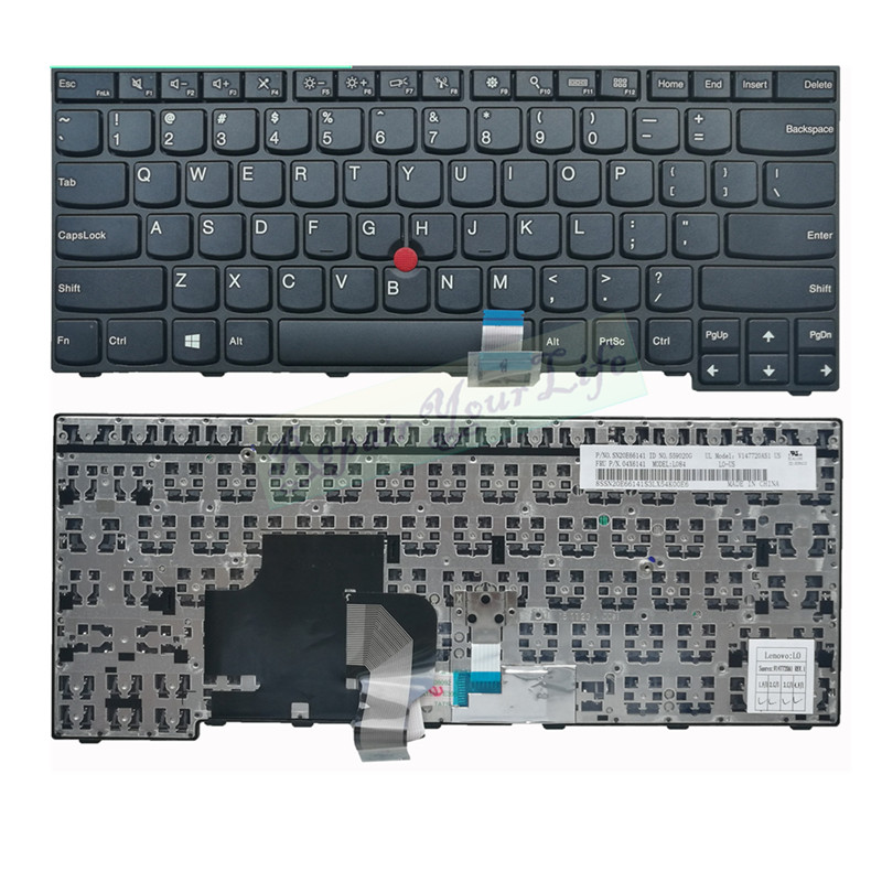 laptop <font><b>keyboard</b></font> us layout for <font><b>lenovo</b></font> E450 E455 E450C W450 <font><b>E460</b></font> E465 Series SN20E66141 04X6141 V147720ASI black chicony image