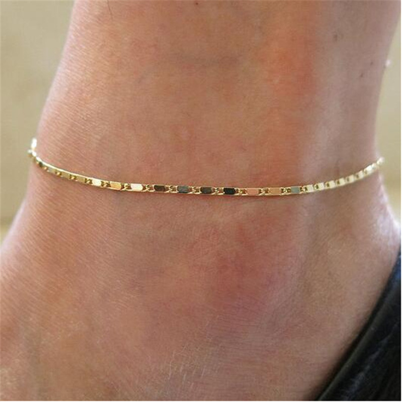 New Ornament Fashion Street Style Simple Thin Chain Anklet