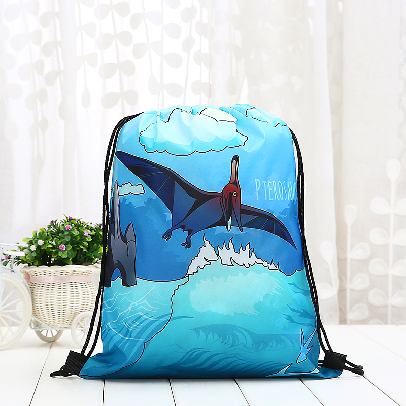 Tyrannosaurus Rex Drawstring Student Dinosaur Backpack Fashion Women 3D Printing  Knapsack Men Casual Bags Women's Shoulder Blue