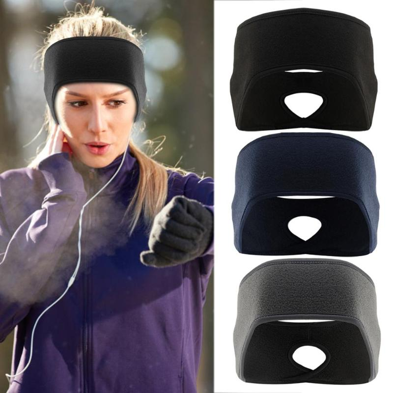 Female Fleece Ponytail Headband Windproof Ear Protection Keeping Warm Sports Sweatband Hair Bands For Cycling Running