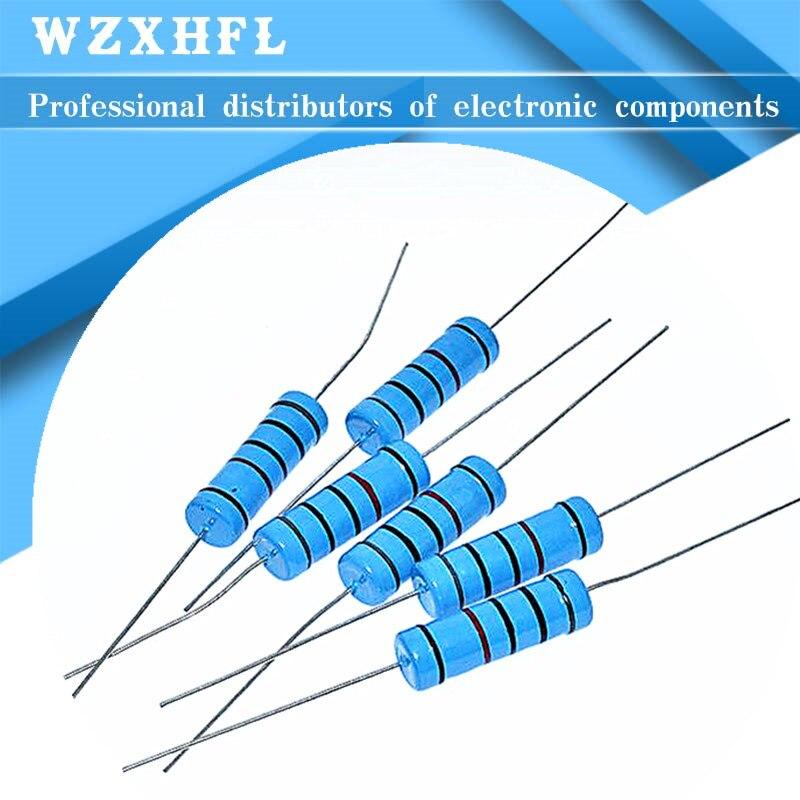 10 шт. 5 Вт 1% металлического пленочного резистора сопротивления 0.1R ~ 10 м 1K 1,2 1,3 3,3 10 22 33 120 360 18 390 470 82 R K ohm 10K 100K 1 м