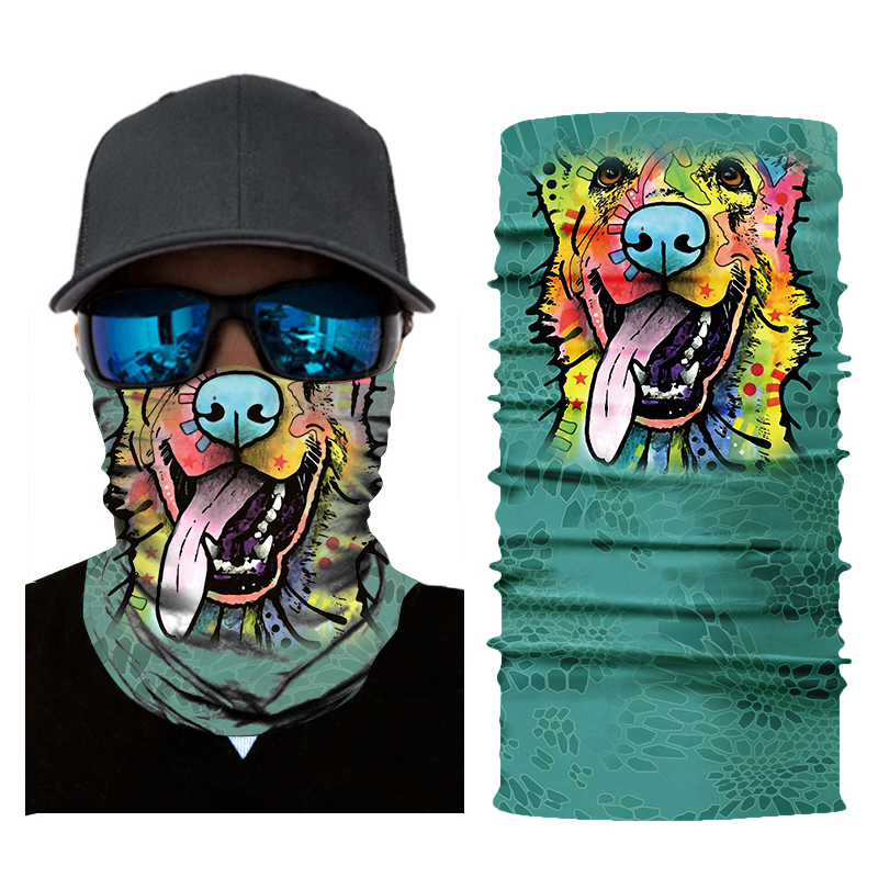 Men Women 3D Bandana  Multiway Outdoor Bandana For Skiing  Windproof  Printing Cycling Animal UV Fishing Protection Hiking