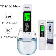 Portable TDS & EC Temp Meter 3 In 1 TDS EC Meter Conductivity Water Quality Measurement Tool with backlight 0-9999 us/cm 40% off