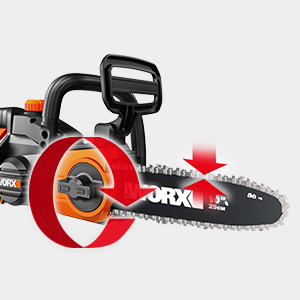 Automatic, tool-free chain tension system in WORX 20V Chain Saw