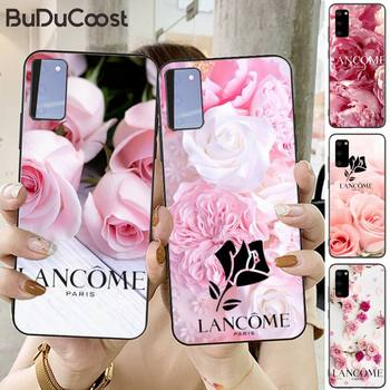 French Cosmetics Lancome Pink Phone Case For Samsung S20 Plus Ultra S6 S7 Edge S8 S9 Plus S10-5G Lite 2020 S10E image