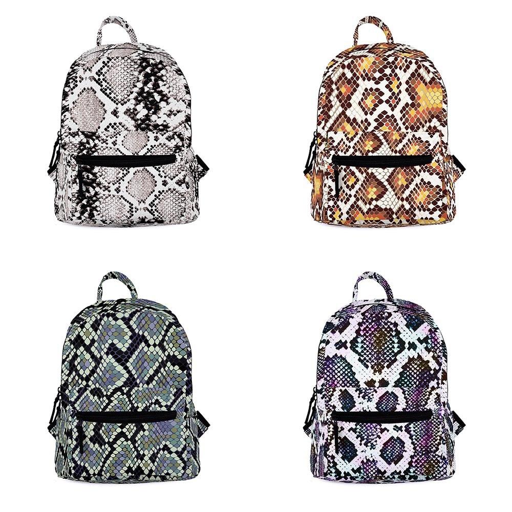 Zohra New Style Snakeskin Print Mini School Bag Cross Border CHILDREN'S School Bags 3D Digital Printing Snakeskin Backpack