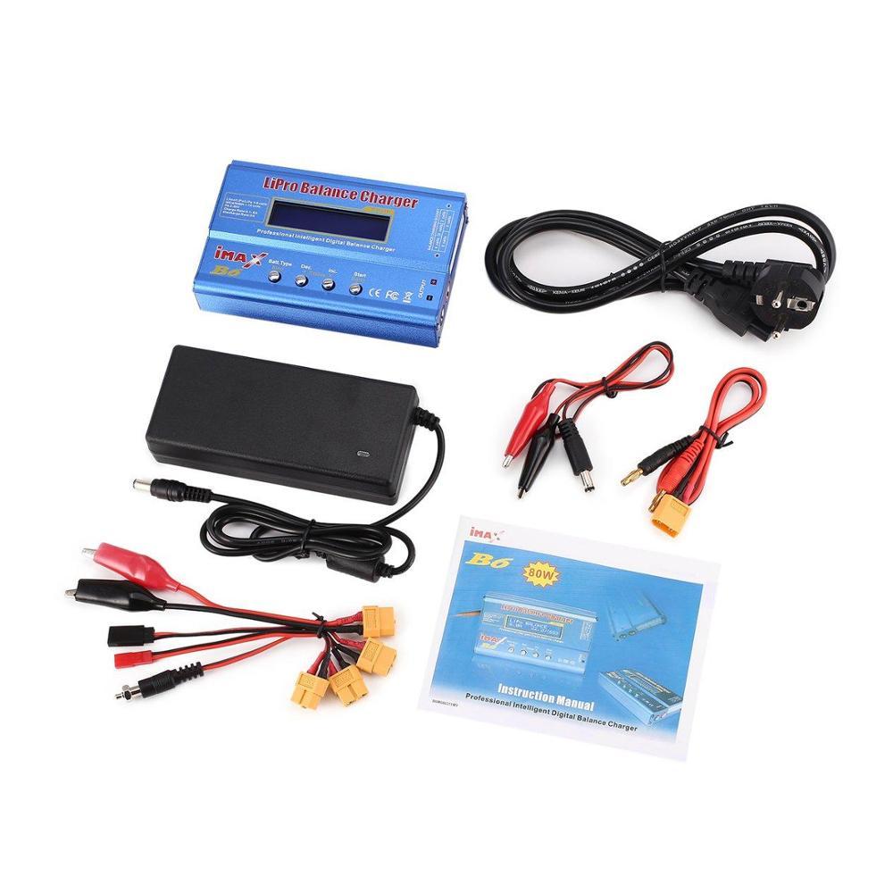 iMAX B6 80W 6A Battery Charger Lipo NiMh Li-ion Ni-Cd Digital RC Balance Charger Discharger with Adapter with EU   US PLUG
