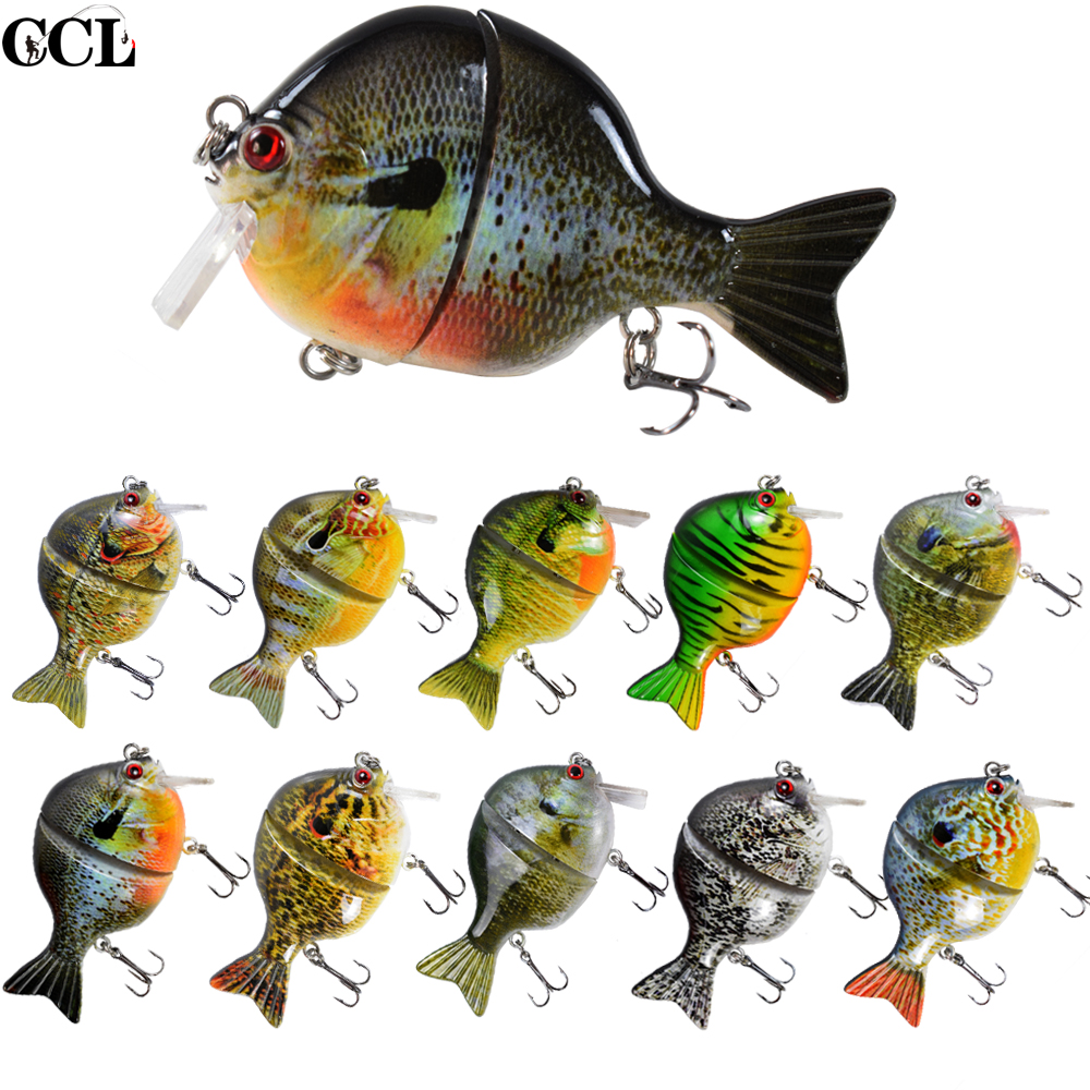 CCLTBA 3.5Inch 33G  Durable Body Life Like Swim Action Topwater Jointed Gill Swimbait Fishing Lure