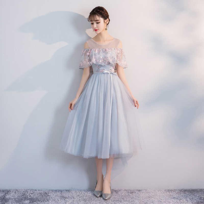 Новое поступление, Muyoms, v-образный вырез, длина до колен, а-силуэт, кружевное, иллюзионное, женское, летнее, для вечеринки, кружевное, цветочное, коктейльное платье, коктейльные платья