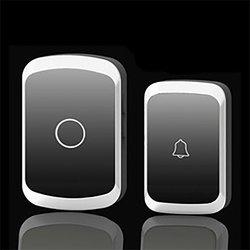 Dla CACAZI Smart Home bezprzewodowy dzwonek AC cyfrowy muzyczny dzwonek do drzwi zdalny zdalny dzwonek do domu wodoodporny w Dzwonek do drzwi od Bezpieczeństwo i ochrona na