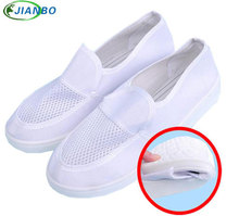 Summer Shoes Anti-static Canvas Breathable Shoes Men Running PVC Casual Dust Free Room Work Breathable Unisex Safety Boots