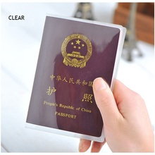 Passport-Cover Id-Holder Credit-Card Travel Transparent Clear with for Journey Matte
