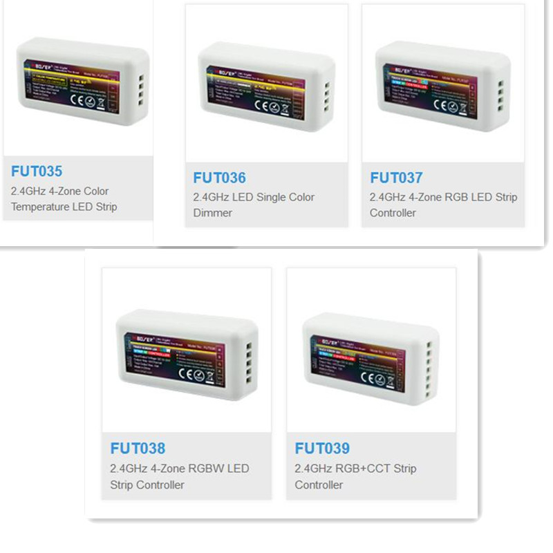 ミライト Mi ボクサー 2.4 グラム rf ワイヤレスシングルカラー調光器 CCT RGB RGBW RGB + CCT FUT035 FUT036 FUT037 FUT038 FUT039 led ストリップコントロール