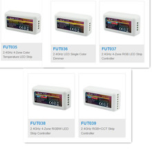 Atenuador de color Mi Light Mi boxer, dispositivo de luz 2,4G RF, único e inalámbrico, CCT, RGB, RGBW, FUT035, FUT036, fut037. fut038. fut039 con tira de control LED