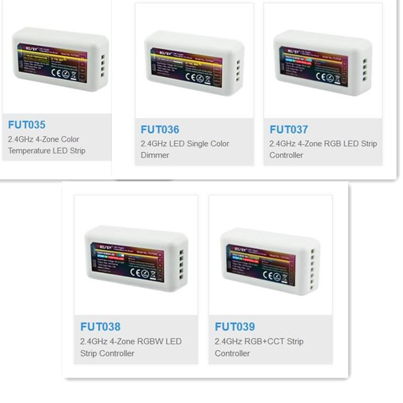 Mi lumière Mi boxer 2.4G RF sans fil couleur unique gradateur CCT rvb RGBW rvb + CCT FUT035 FUT036 FUT037 FUT038 FUT039 led contrôle de bande